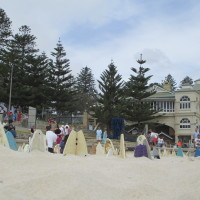 """150 Surfboard Graveyard"" by Chris Anderson: Sculpture by the Sea, Cottesloe beach"